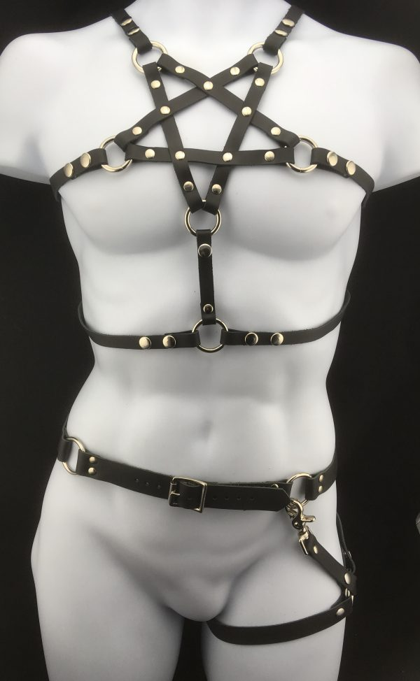 Pentagram Harness with O-Ring Belt & Leg Harness