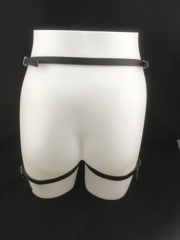 2 of hearts Leather Garter - Back