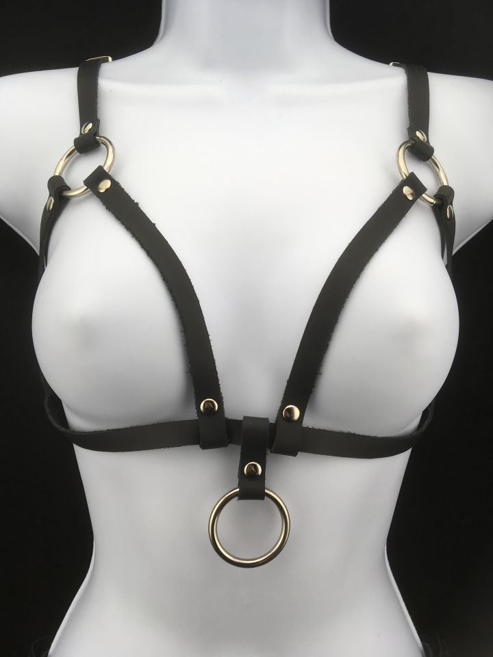 f5cf5a83a5 Simple Leather Bralette by Star Creations Handmade in Montreal