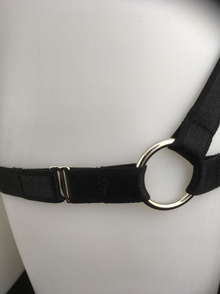 Black Kinky Booty Bottom Elastic Strap