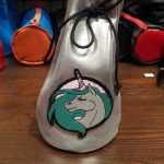 Round Base Tall Dice Bag with Unicorn by Xtreme Paraphilia