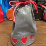 Round Base Tall Dice Bag with Hearts by Xtreme Paraphilia