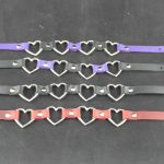 xtreme paraphilia cosplay accessories leather chokers collar bondage heart choker