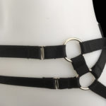 Black Kinky Booty Elastic Strap_Silver Hardware_Detail