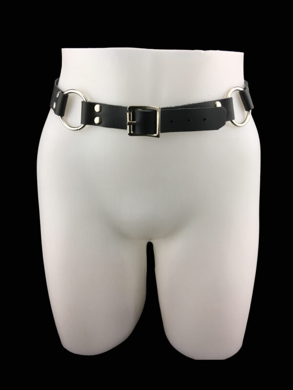 Leather belt_black_front