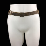 Leather belt_brown_front