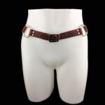 Leather belt_cherry_front