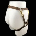 Leather belt_leather leg harness_brown