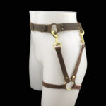 RESHOOT Leather belt_leg harness_brown_side
